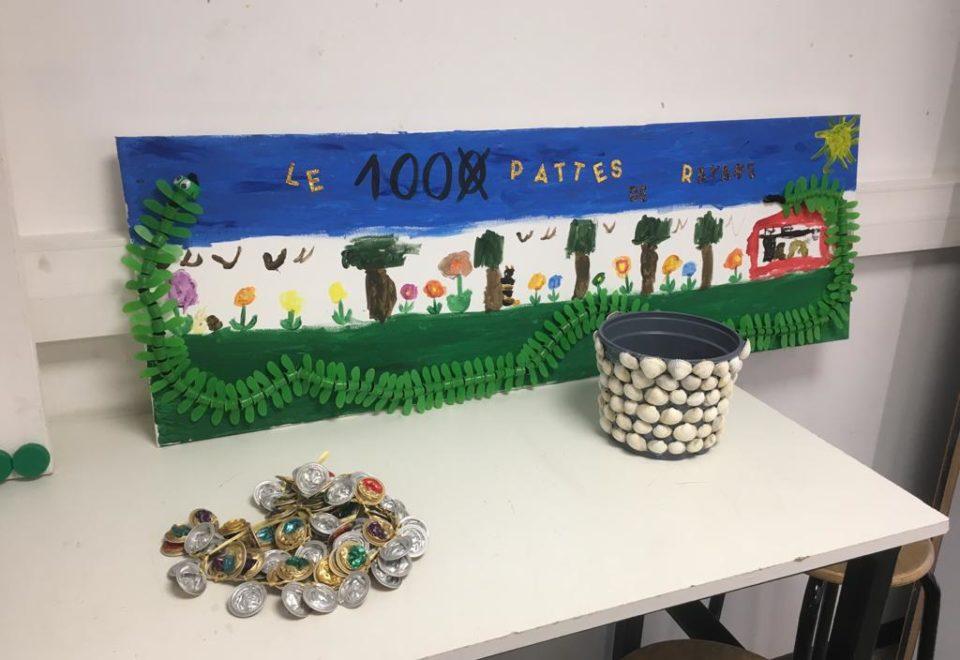 Exposition des classes de Mesdames Lefebvre, Leriche et Noé en salle d'arts plastiques